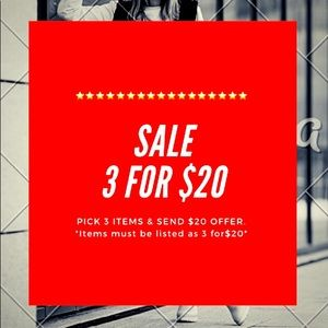 ⭐️SALE 3 FOR $20⭐️